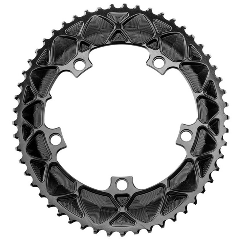 Absolute Black 5X130 Oval Chainring