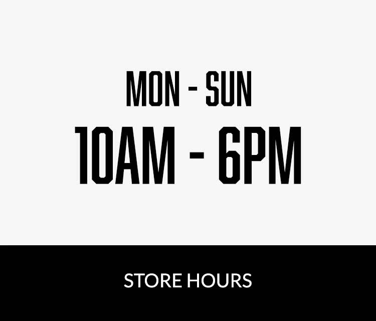 Hours: Mon - Sun: 10am - 6pm