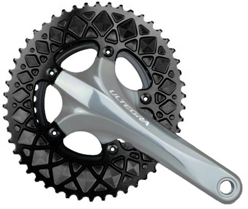 Absolute Black Premium Oval Road Outer Chainring SRAM Hidden-Bolt 5x110BCD