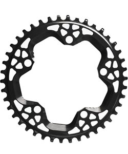 Absolute Black Cyclocross Chainring Black, 38 Tooth, 5X130mm