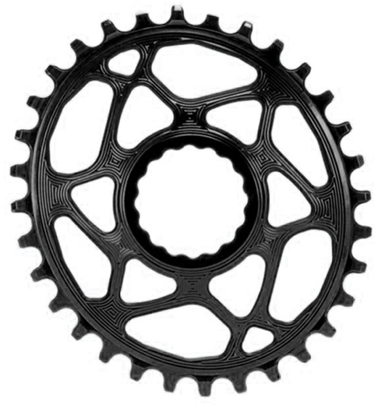 36T Absolute Black Spiderless Cinch DM Oval Boost chainring black
