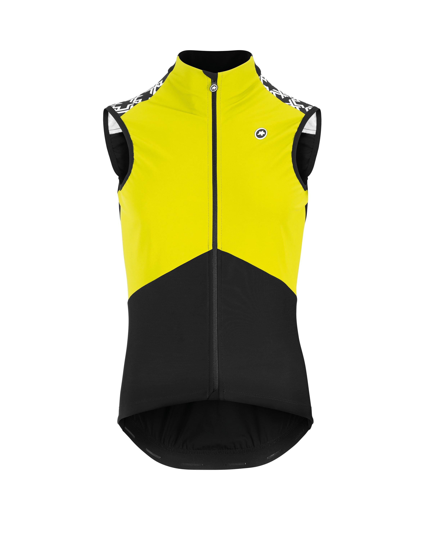 Assos Mille GT Airblock Vest Men's Size Medium in Yellow
