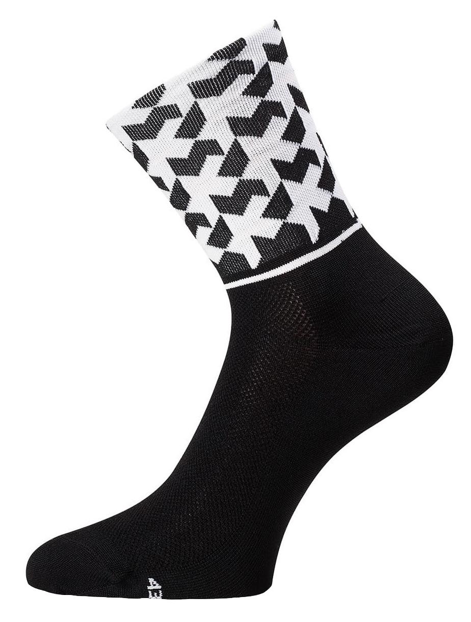 Assos | Evo8 Monogram Cycling Socks Men's | Size Small in Black