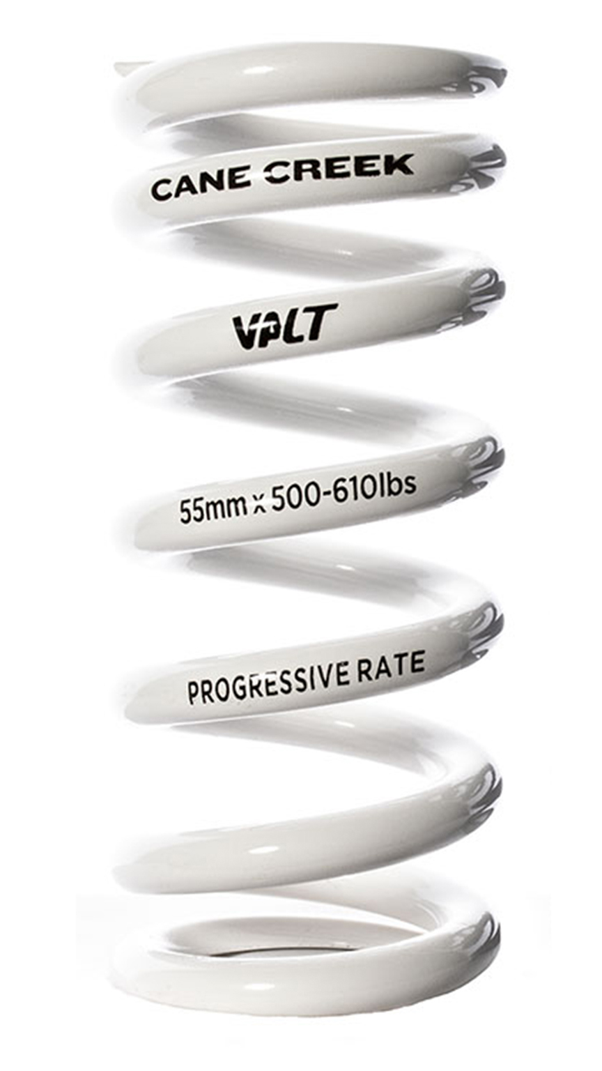 Cane Creek Progressive-Rate VALT Mountain Bike Coil Shock Spring White