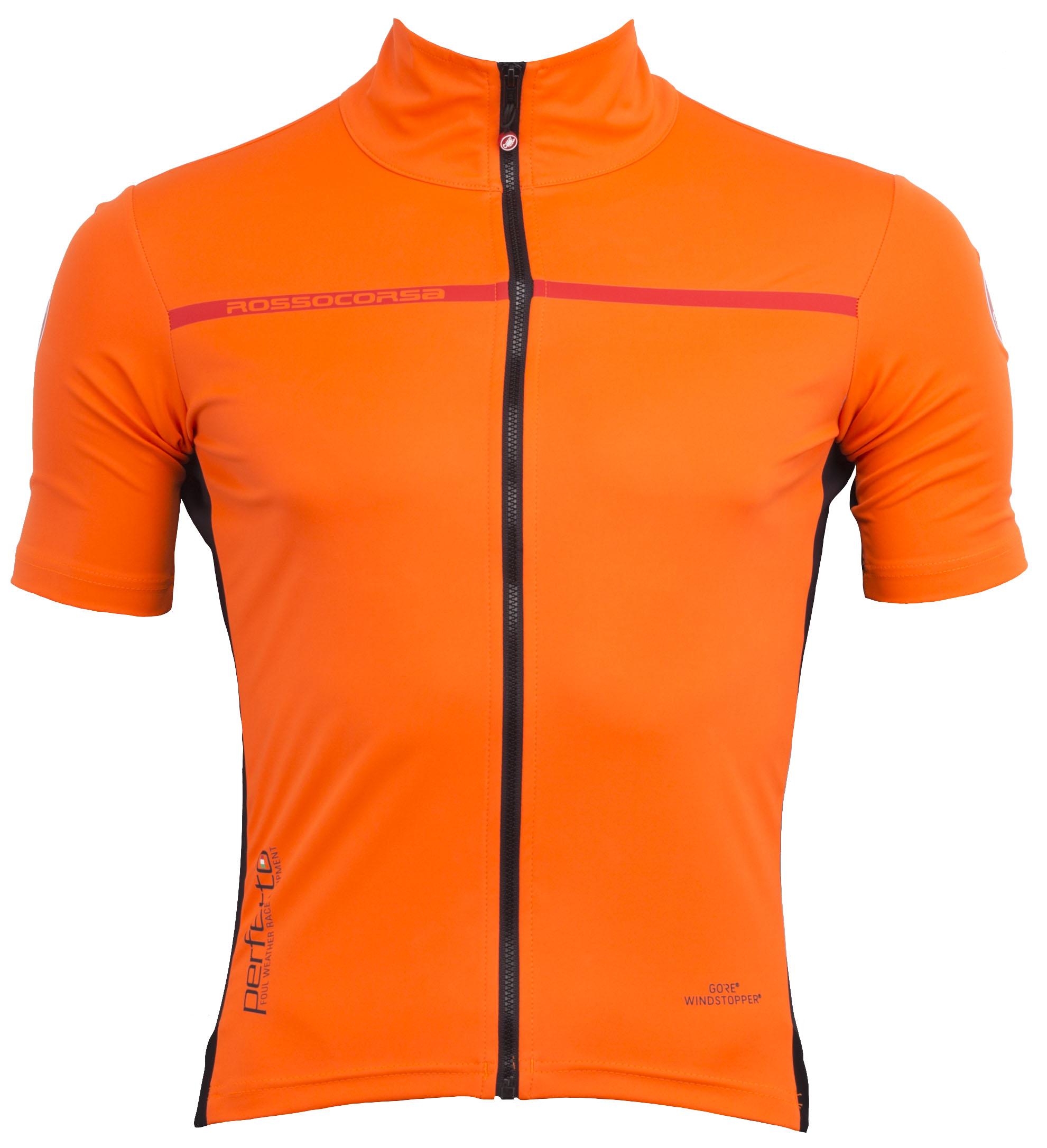 Castelli Perfetto Light 2 Jersey Men's Size Extra Large in Orange