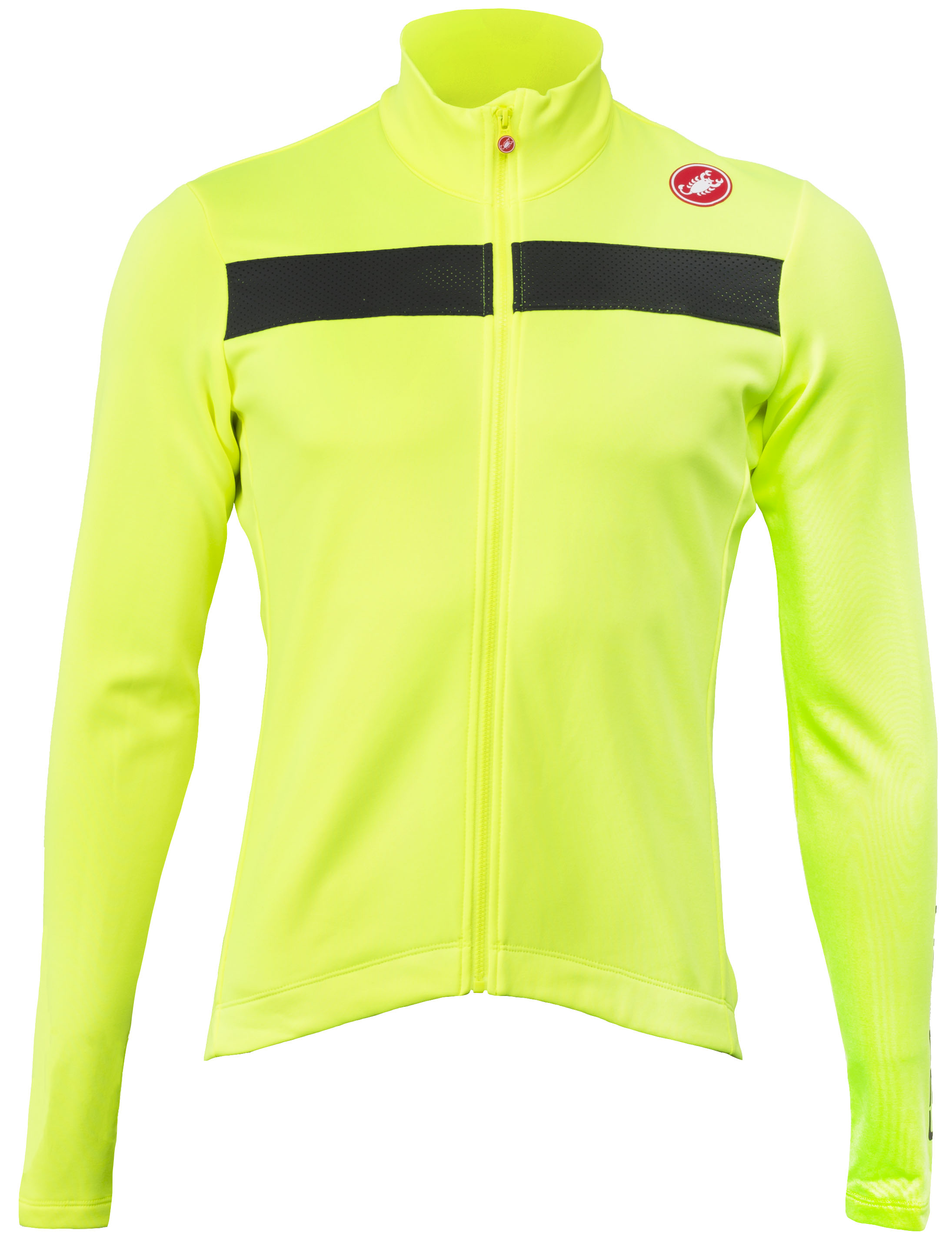 YELLOW FLUO NEW Castelli PURO 3 Long Sleeve Cycling Jersey