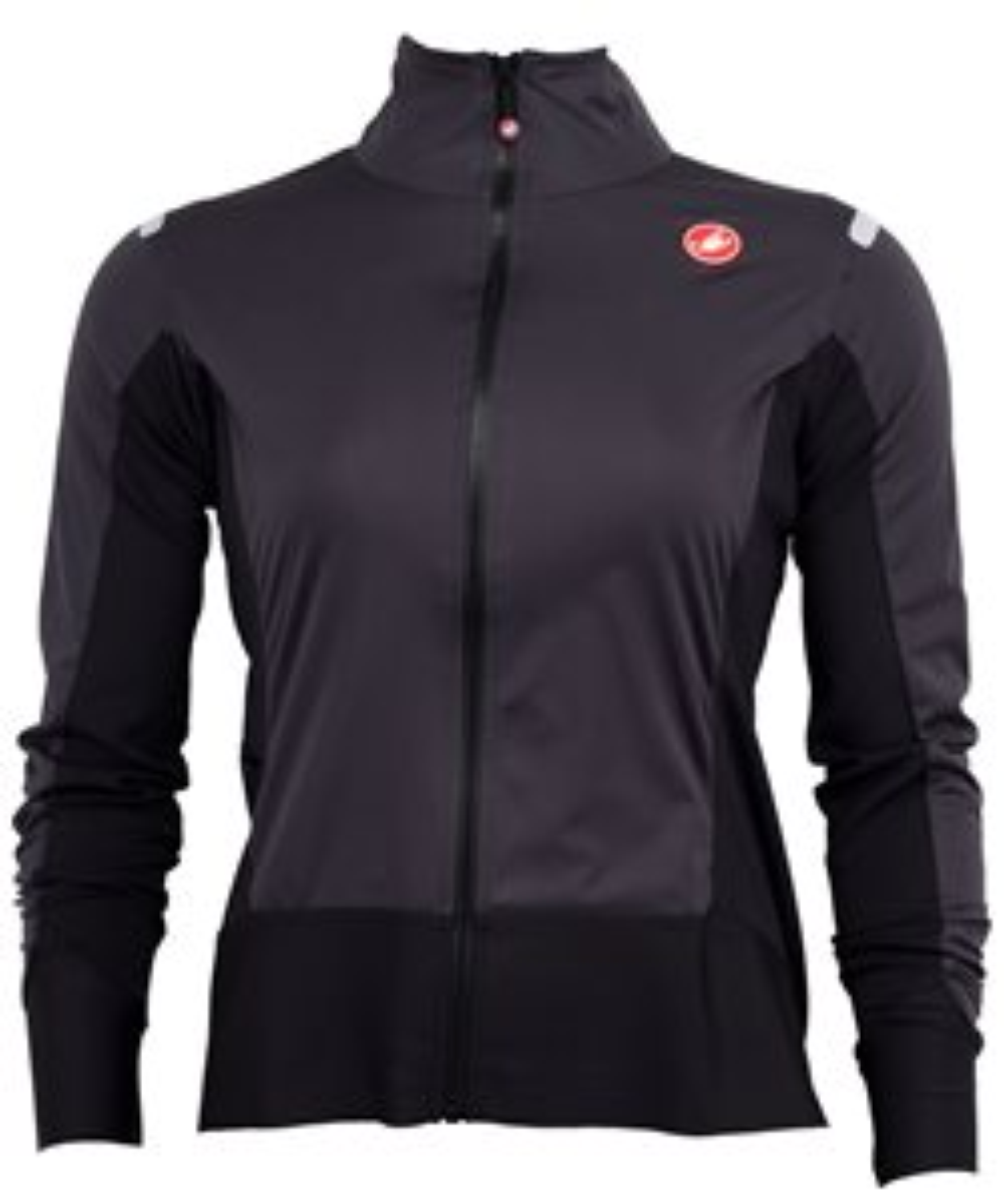 Castelli Alpha Ros W Light Jacket Women's Size Small in Dark Gray/Black