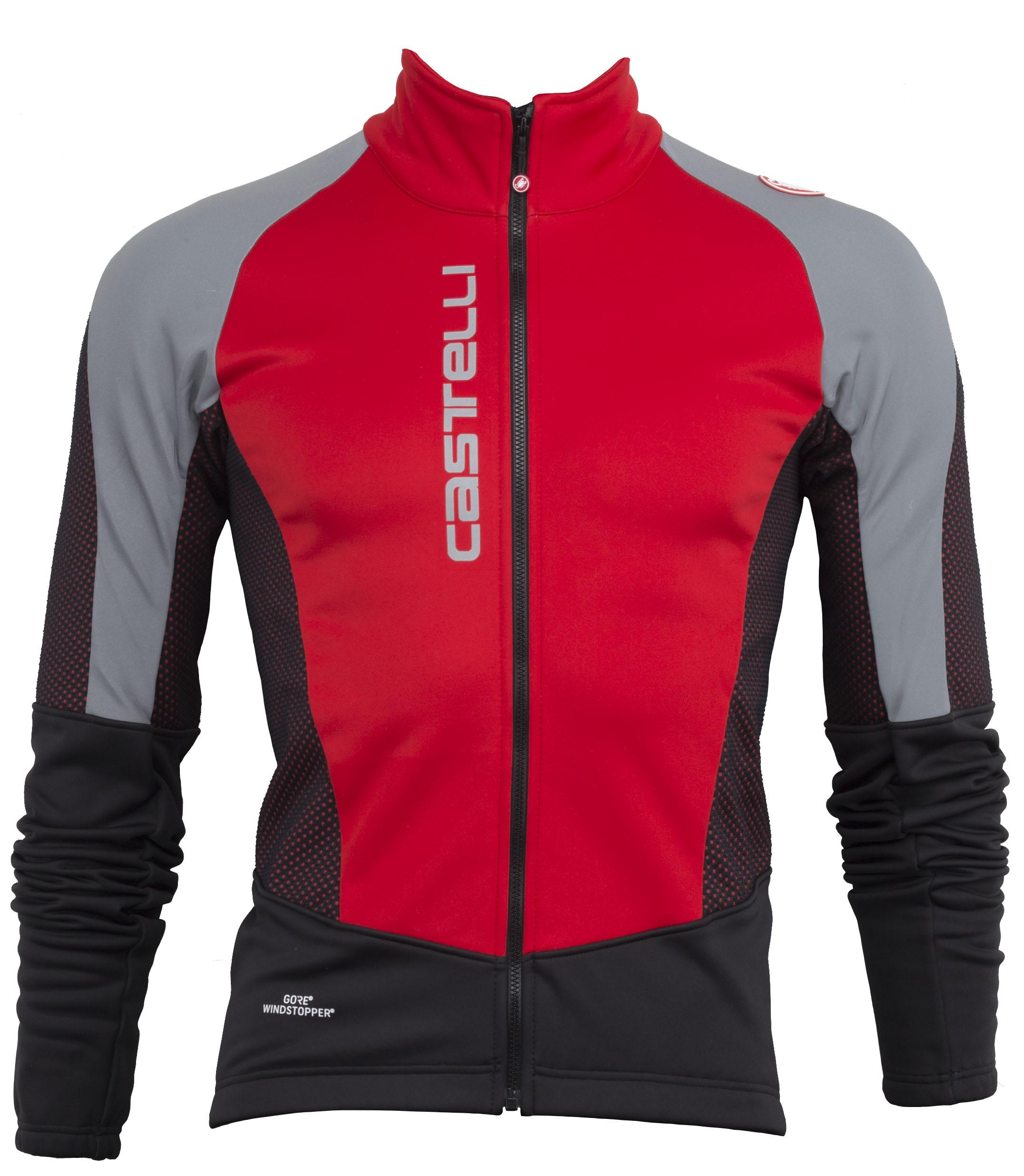 Castelli Mortirolo V Reflex Jacket Men's Size Medium in Red