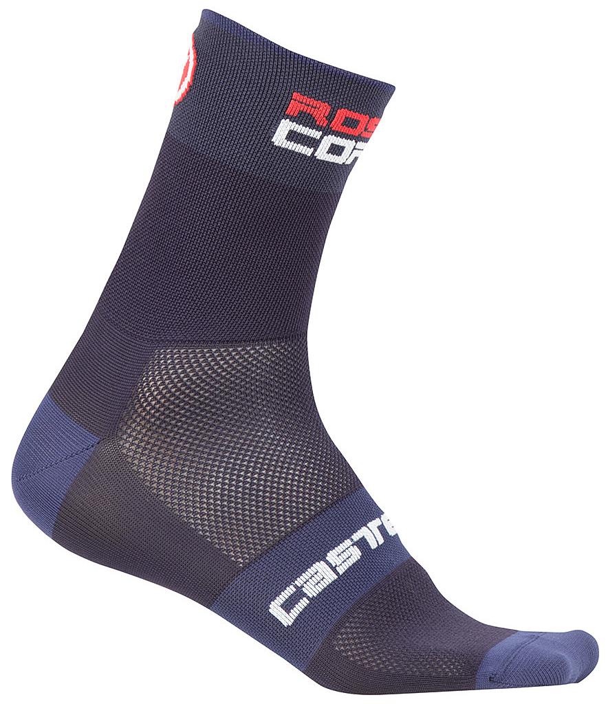 Castelli Rosso Corsa 9 Socks Men's Size XX Large in Dark Steel Blue