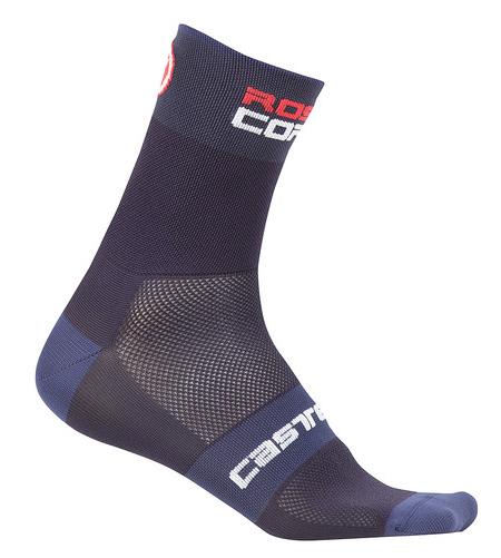 Castelli Rosso Corsa 6 Socks 2019 Men's Size Small/Medium in Dark Steel Blue