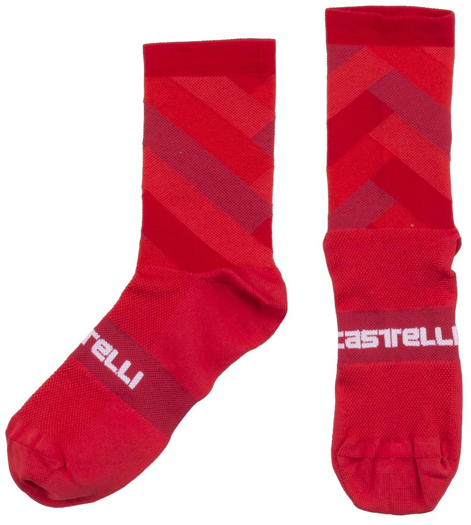 Castelli Free Kit 13 Cycling Socks Men's Size Small/Medium in Red