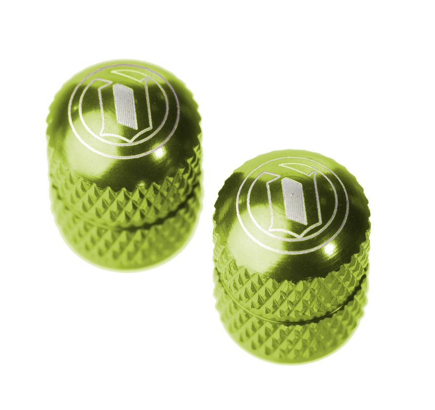Bike Tube Caps Ano Green Aluminum Bicycle Schrader Valve Cap Set