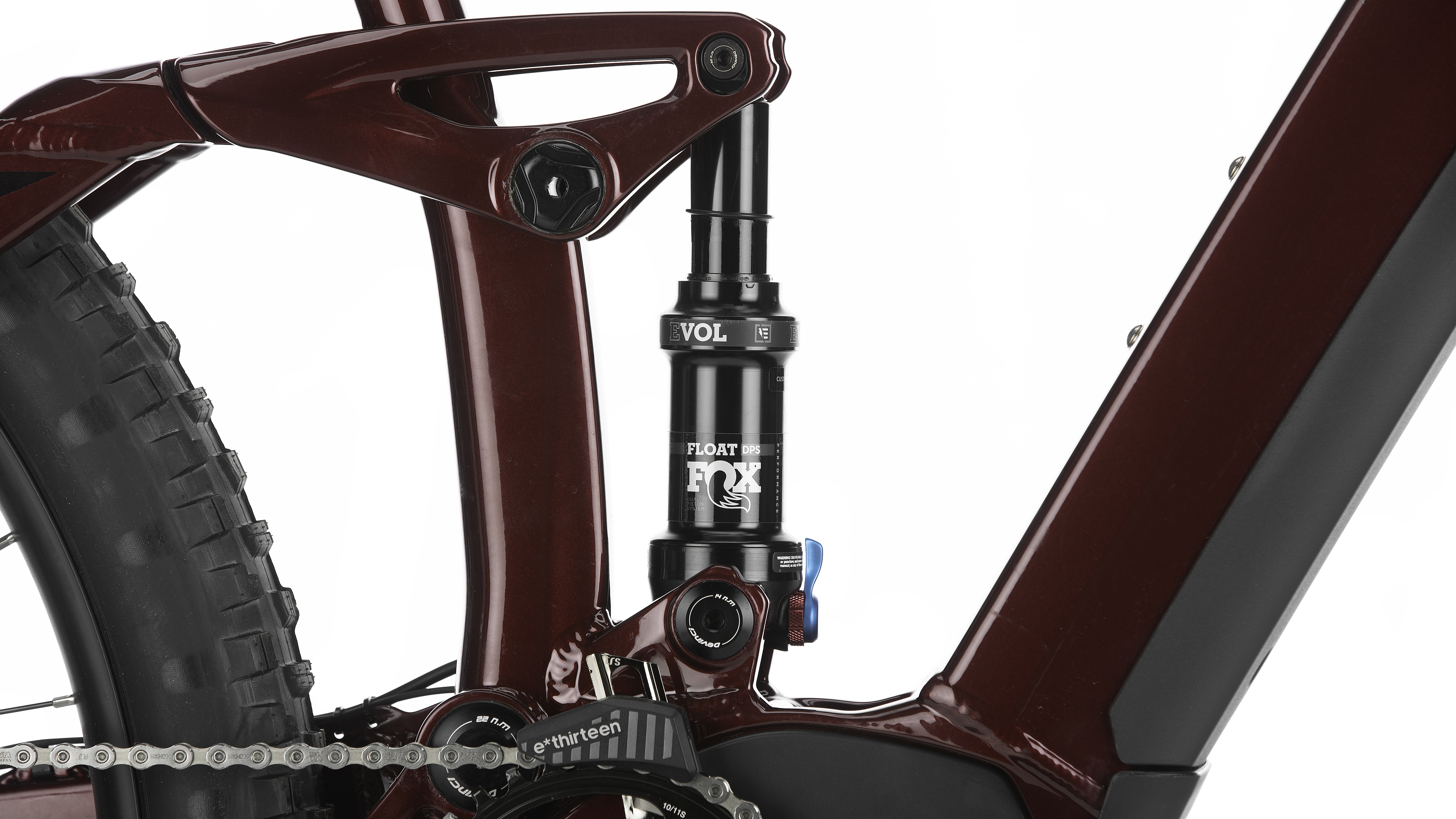 Fox rear suspension with 130mm of travel