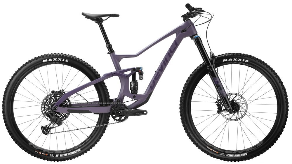 devinci purple full-suspension mountain bike