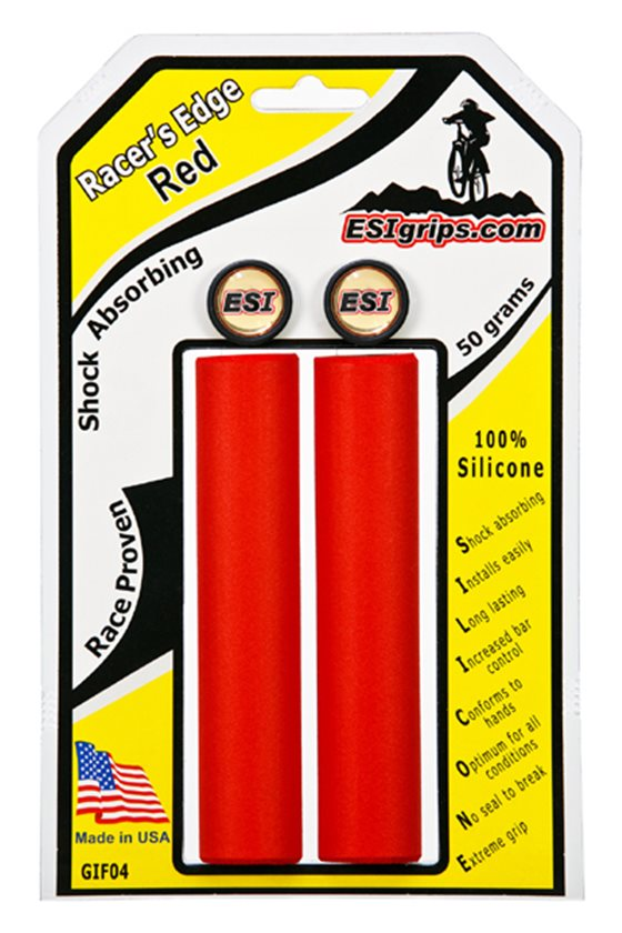 ESI Racers Edge Silicone Handlebar Grips PINK Mountain XC 29er Road Fixed Bikes