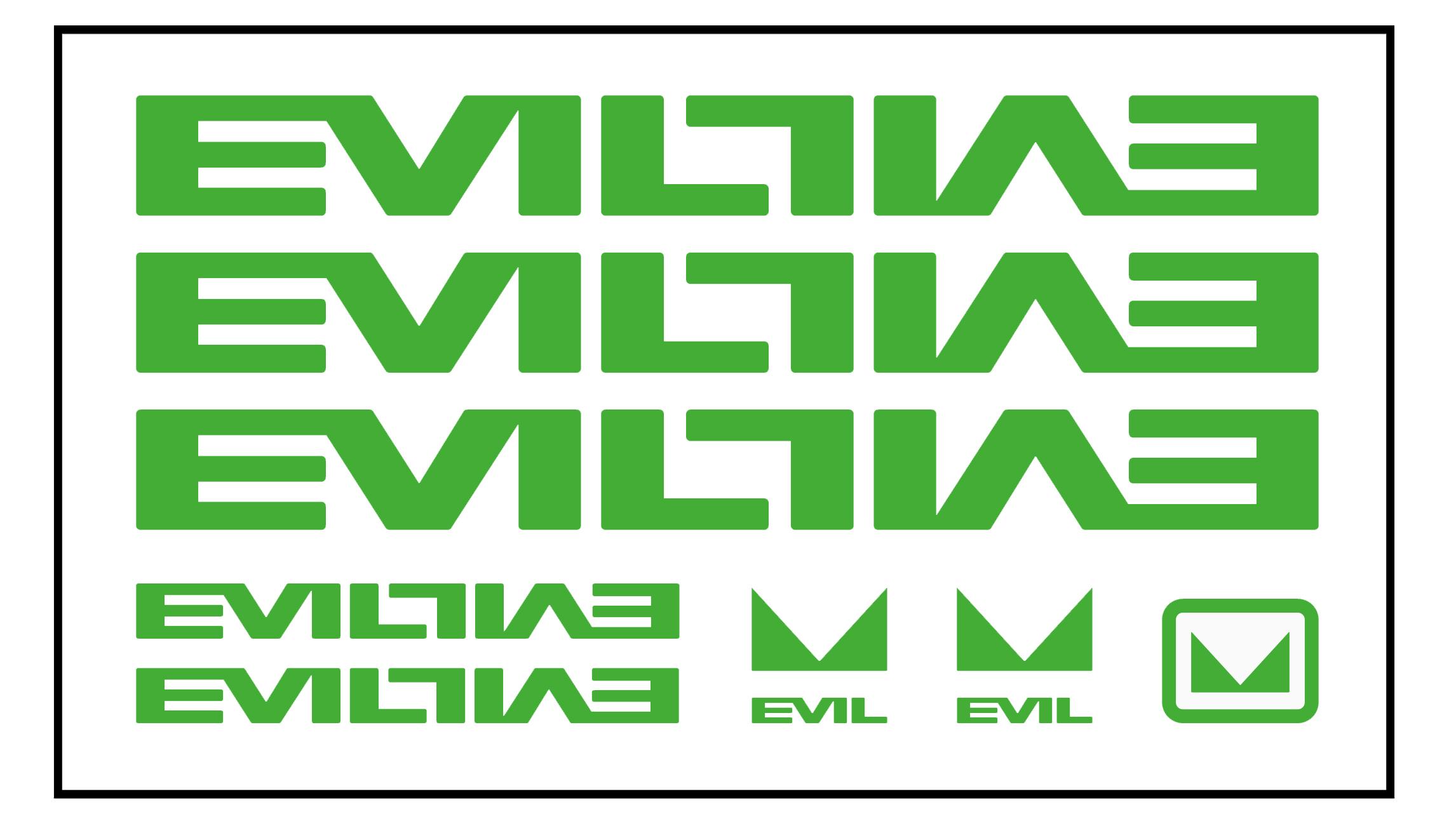 Evil frame decal kit