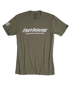 Fasthouse | Logo Tee Men's | Size Small in Military Green