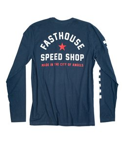 Fasthouse | Star Long Sleeve Tee Men's | Size Extra Large in Navy