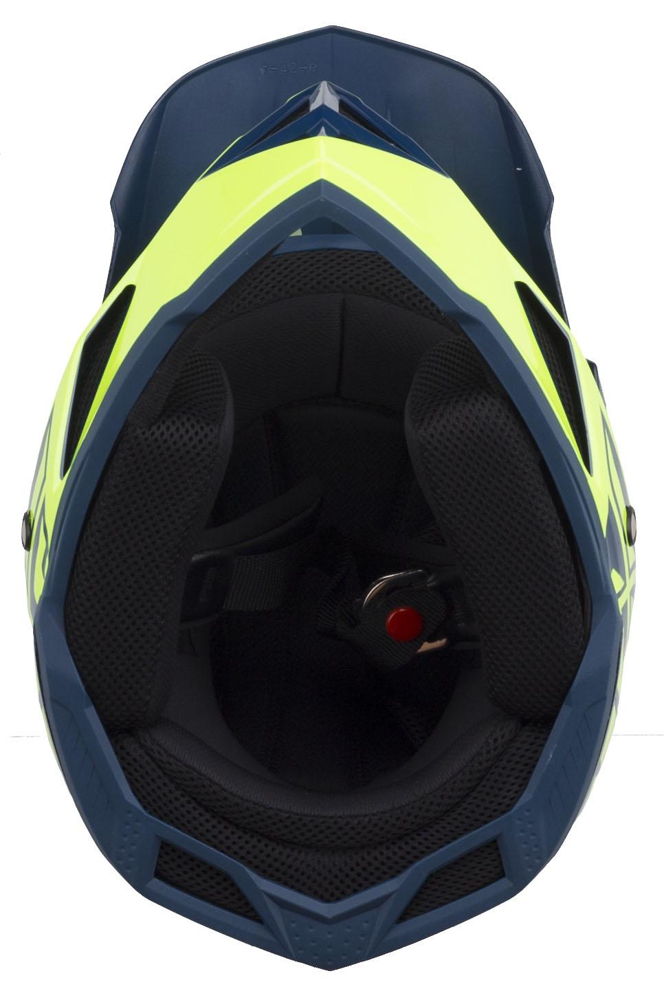 Fly Racing Default Full-Face Helmet X-Large Teal//Hi-Vis Yellow
