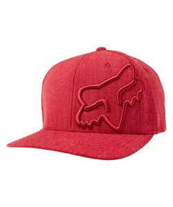 Fox Clouded Flexfit Hat Men's Size Large/Extra Large in Heather Red