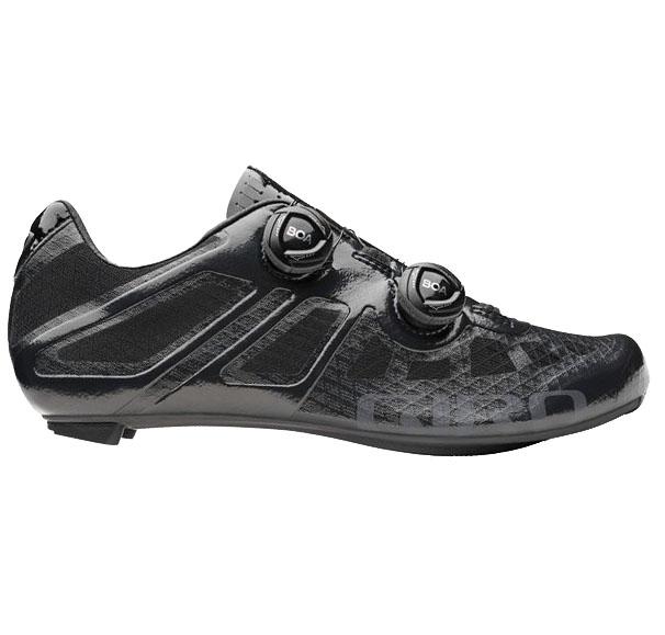 Black Giro shoes for road biking