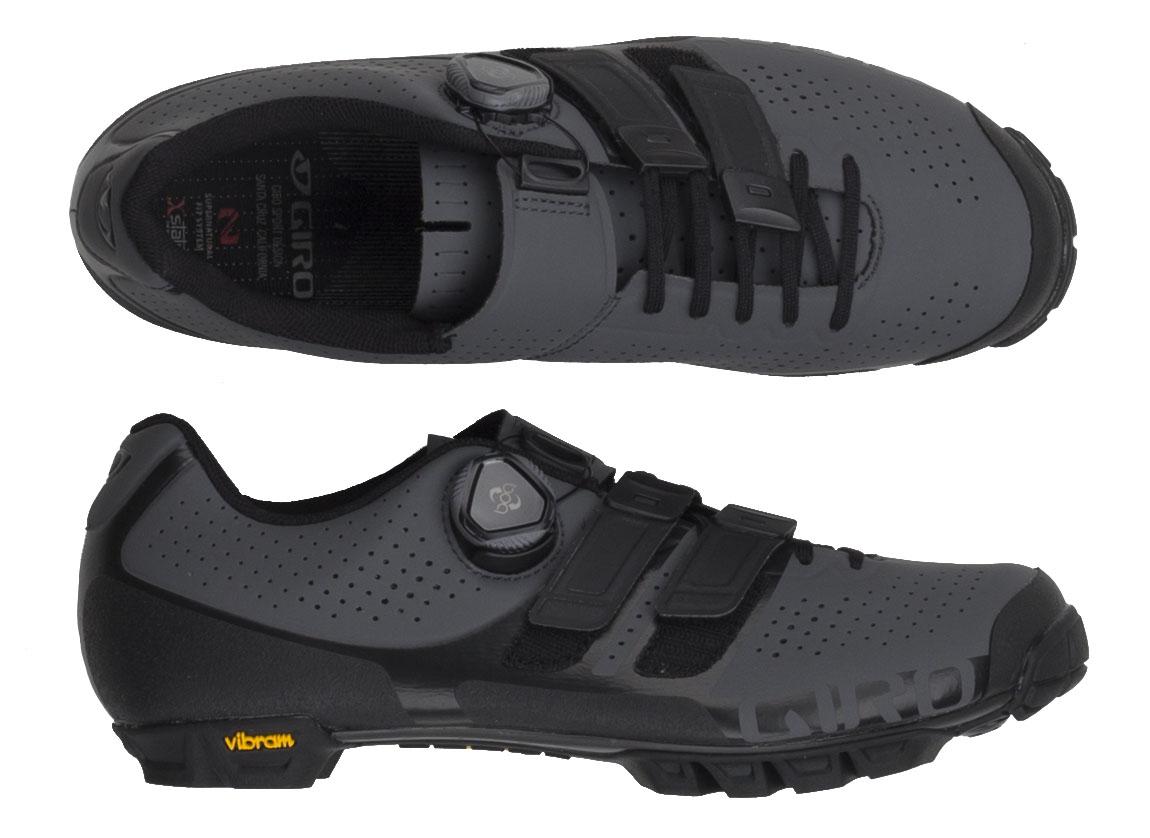 Giro Code BOA//Techlace MTB Bike Shoes Grey//Black