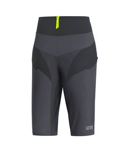 Gore C5 Women's Trail Light Shorts Size Extra Large in Terra Grey/Black