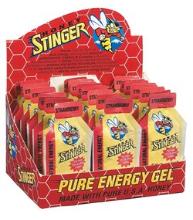 Honey Stinger Classic Energy Gel - 24Pk. Ginsting - Naturally Caffeinated, 24 CT.