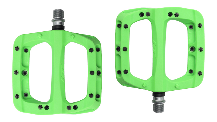 Couple Pedals Flat pa03a Green HTPA03A.G HT-COMPONENTS Flat Bike Pedals