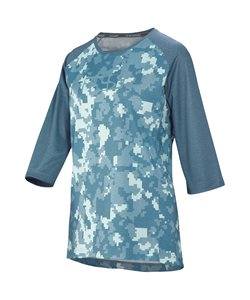IXS | Carve Women's Jersey | Size Extra Large in Camo Blue/Light Blue