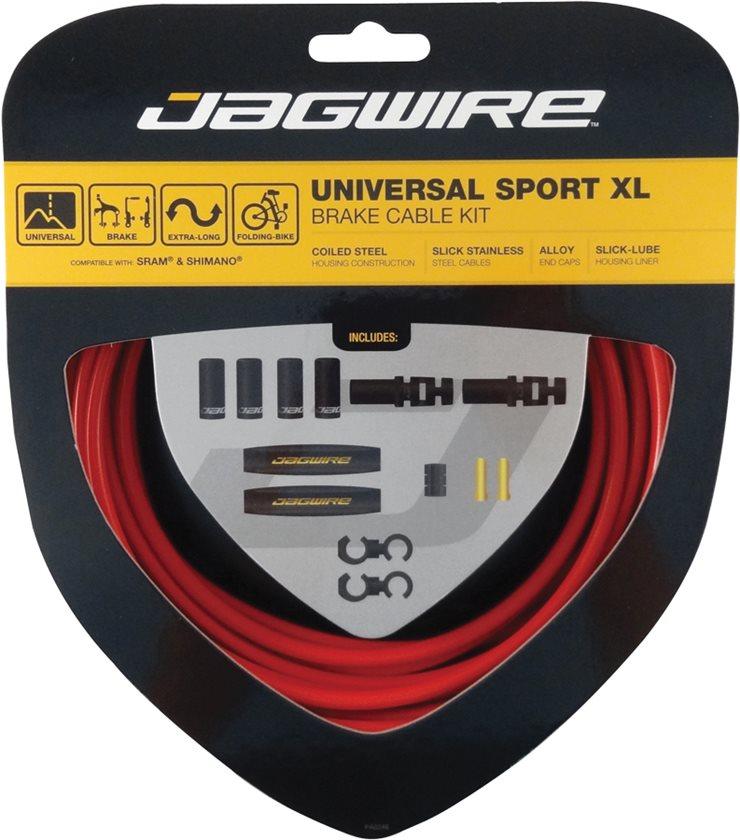 Jagwire Universal Sport Brake XL Kit Red