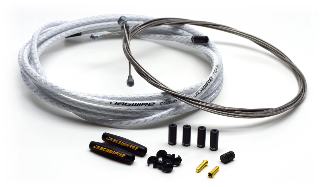 Jagwire Universal Sport Brake Cable Kit Braided White