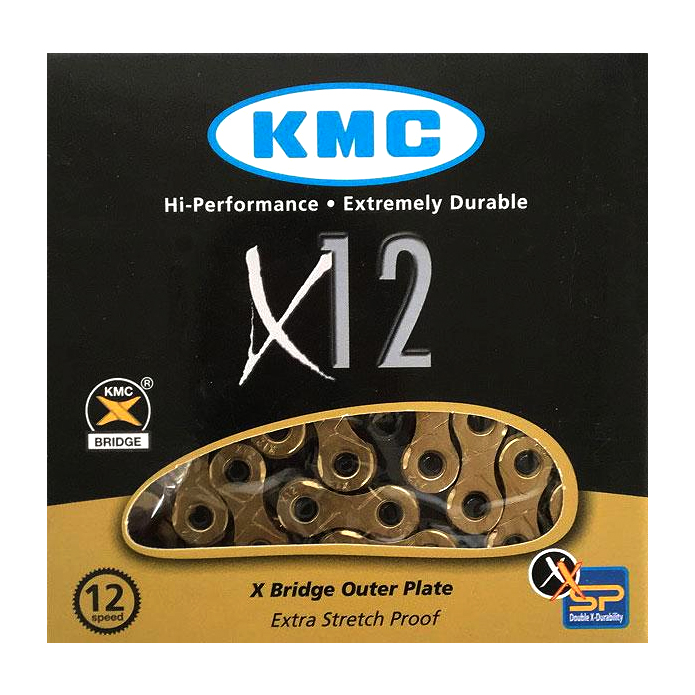 Gold KMC X-12 Ti-Nitride Coated 12sp Chain
