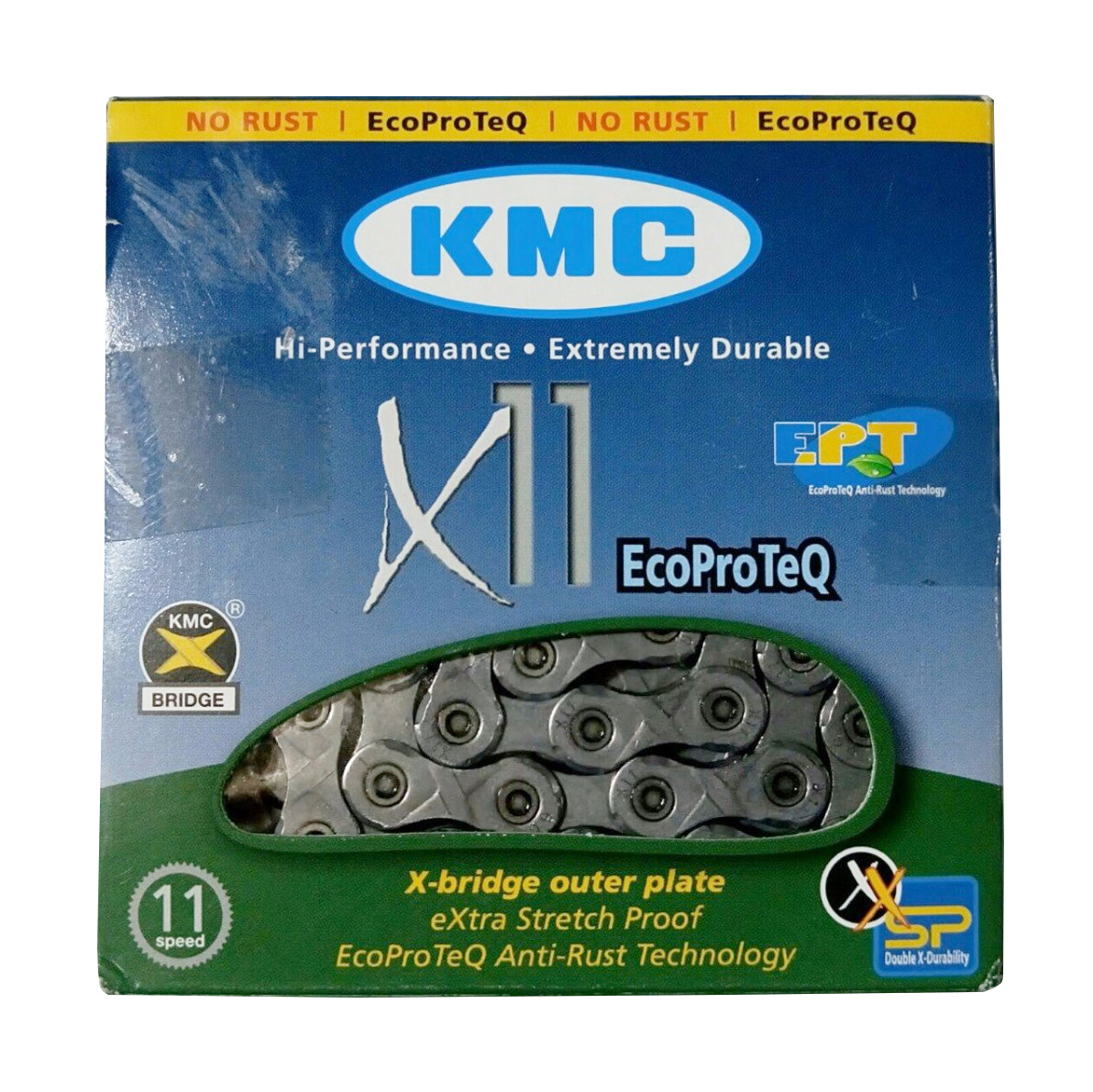 Two KMC X9 9-Speed Stretch-Proof Bike Chains X9.93 for Road CX MTB Pack 2