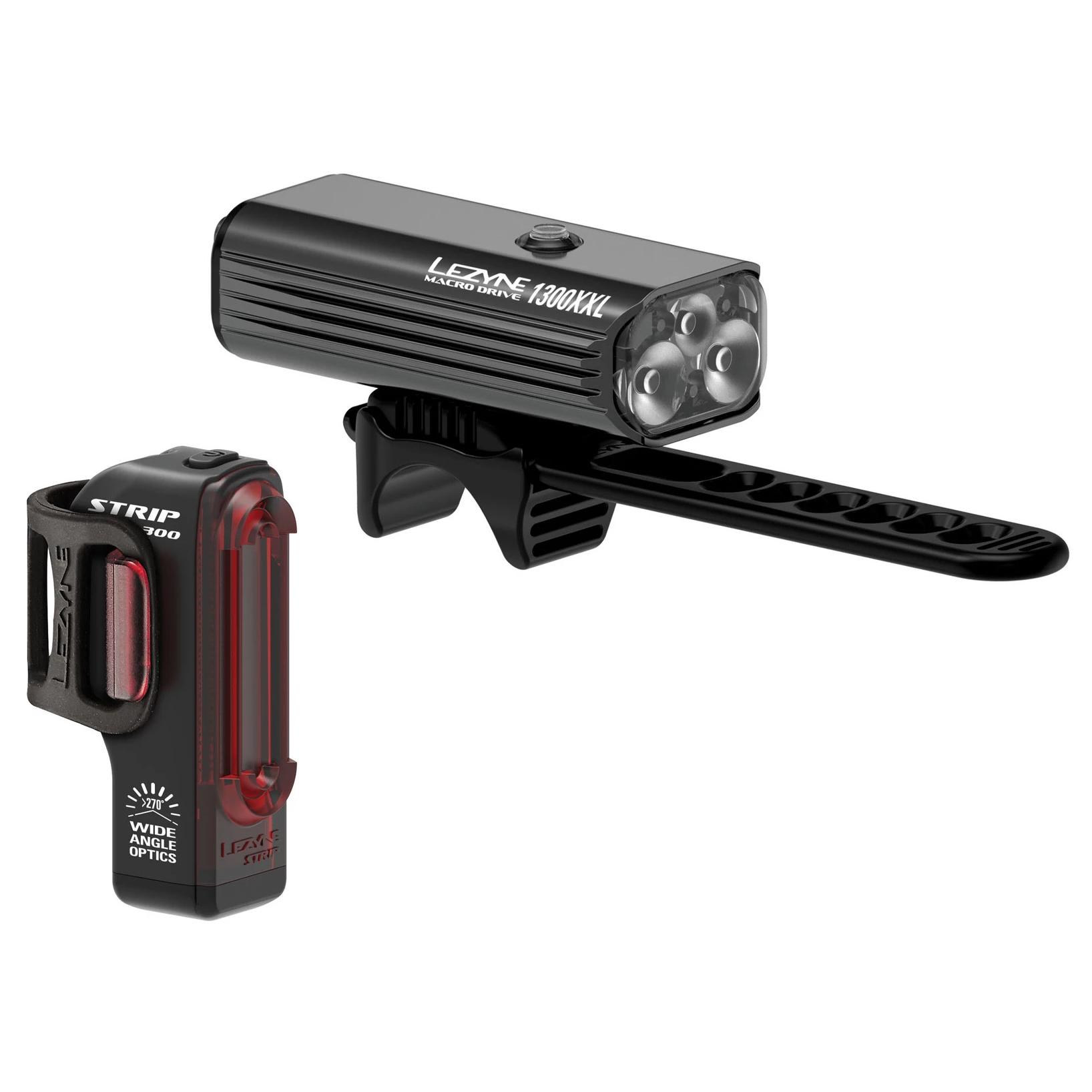 Lezyne Strip Drive Pair LED Front//Rear Black 300 Lumens