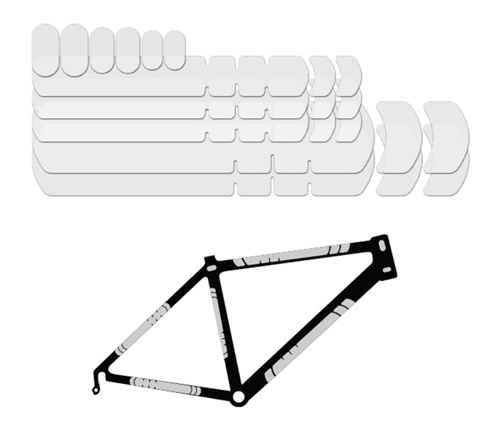 Lizard Skins Clear Fork Protector Bike Patch Road Bike Protection Cycling