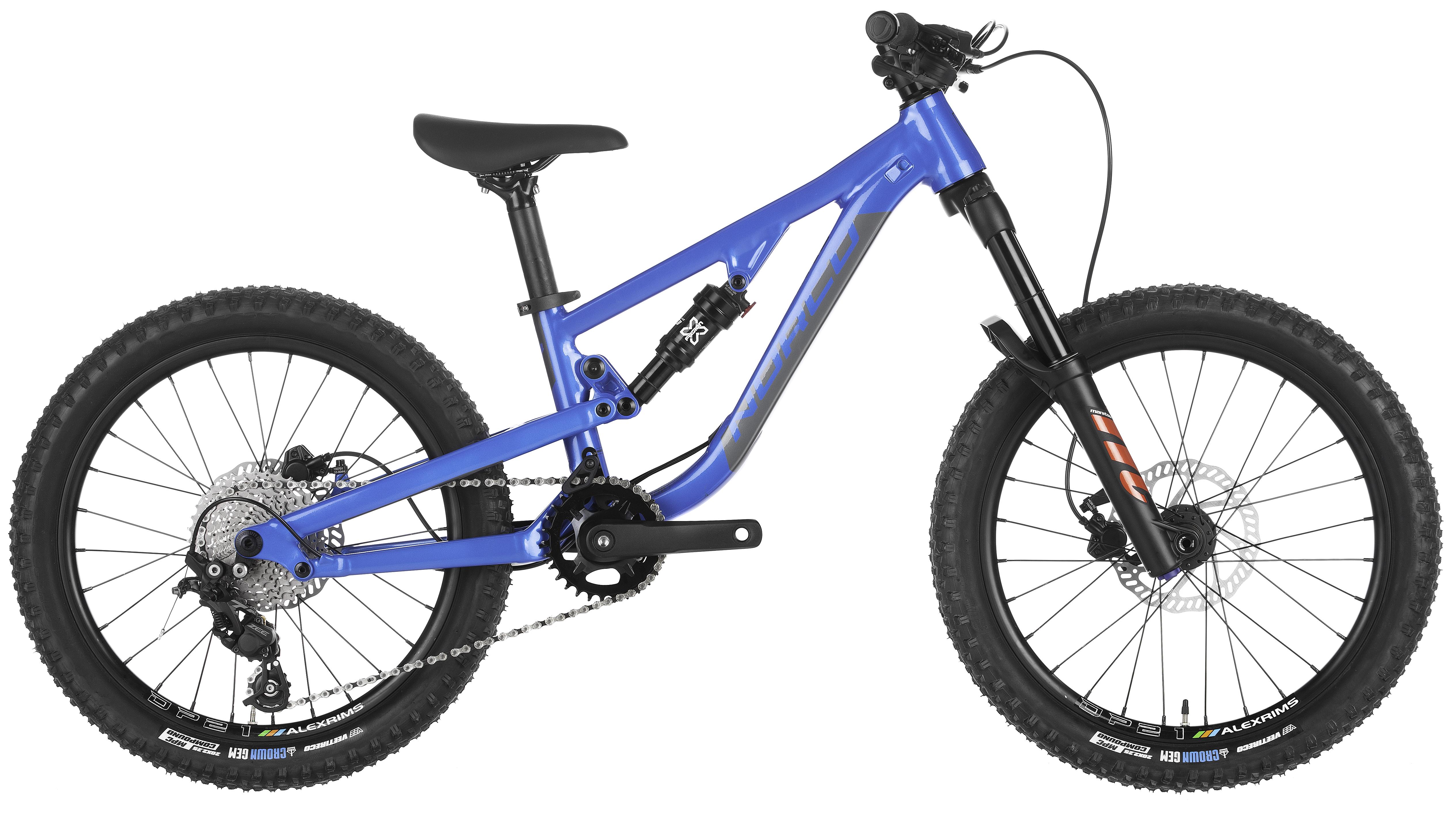 boys blue full-suspension mountain bike