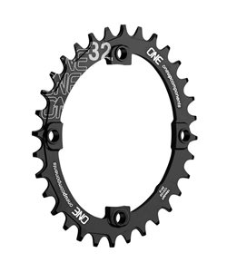 OneUp Components | 104 Bcd Oval Chainring | Black | 32 Tooth, 104 Bcd | Aluminum