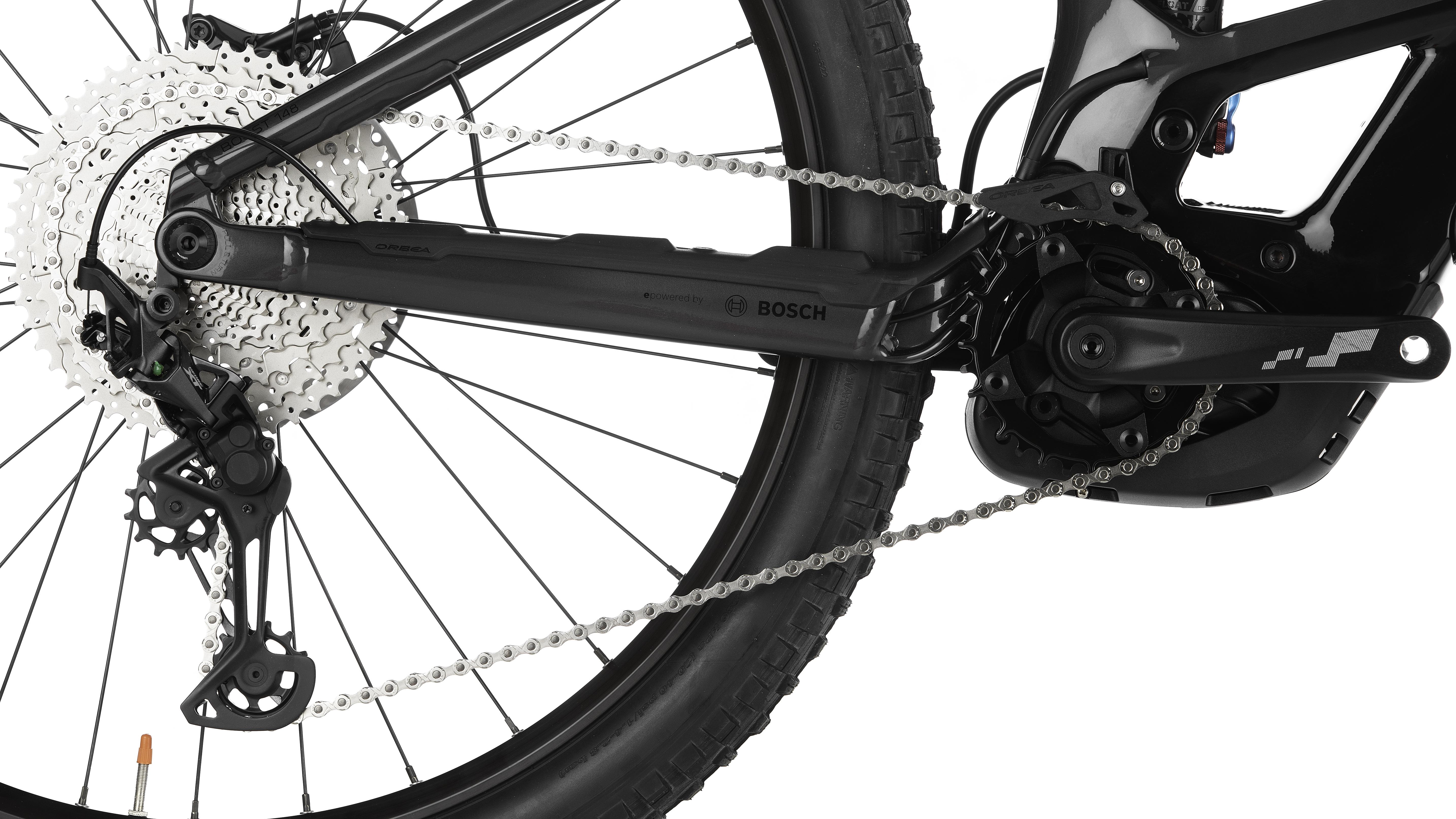 rear wheel of orbea wild electric class 1 bike