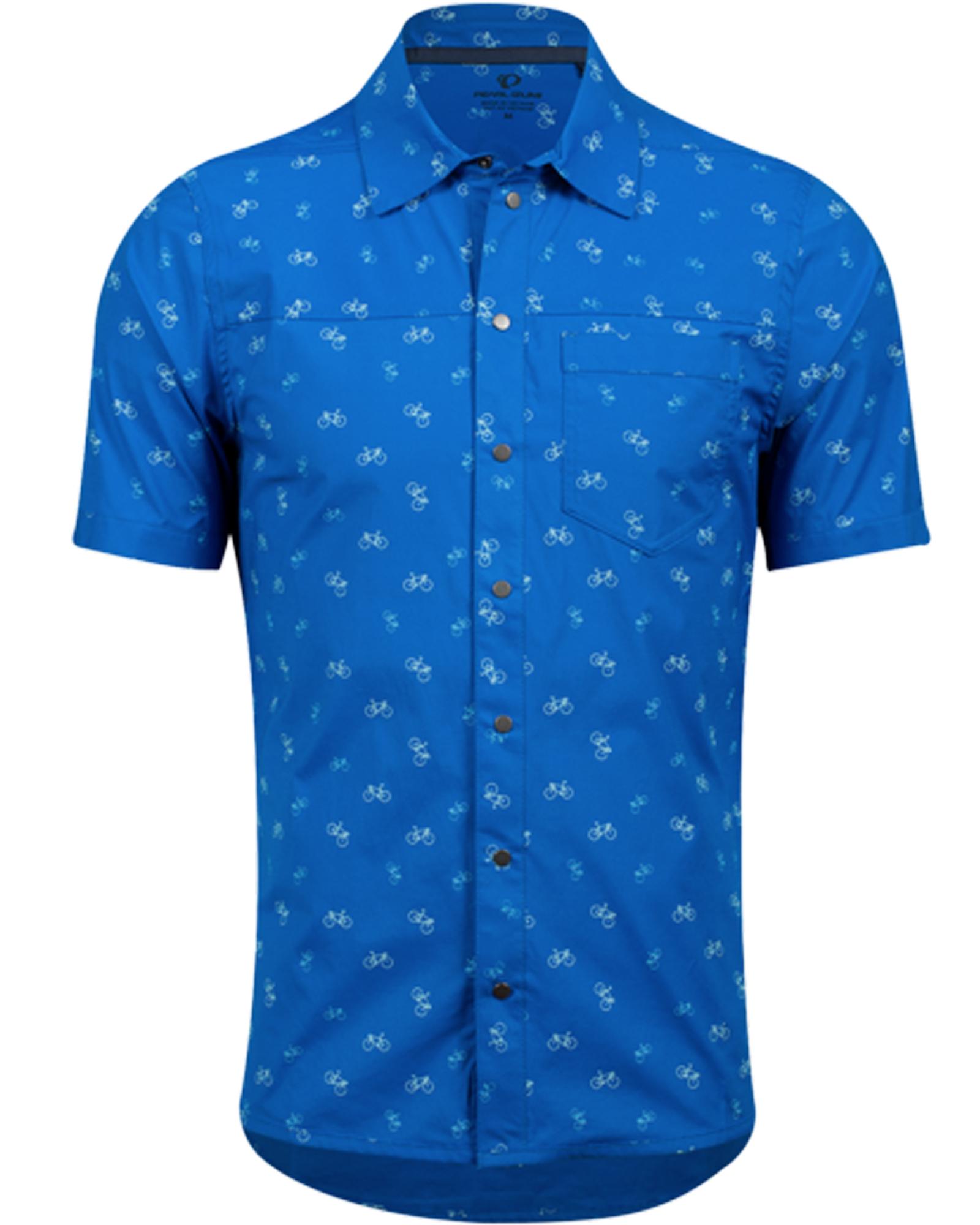 Pearl Izumi | Rove Shirt Men's | Size Medium in Lapis Bike Rack