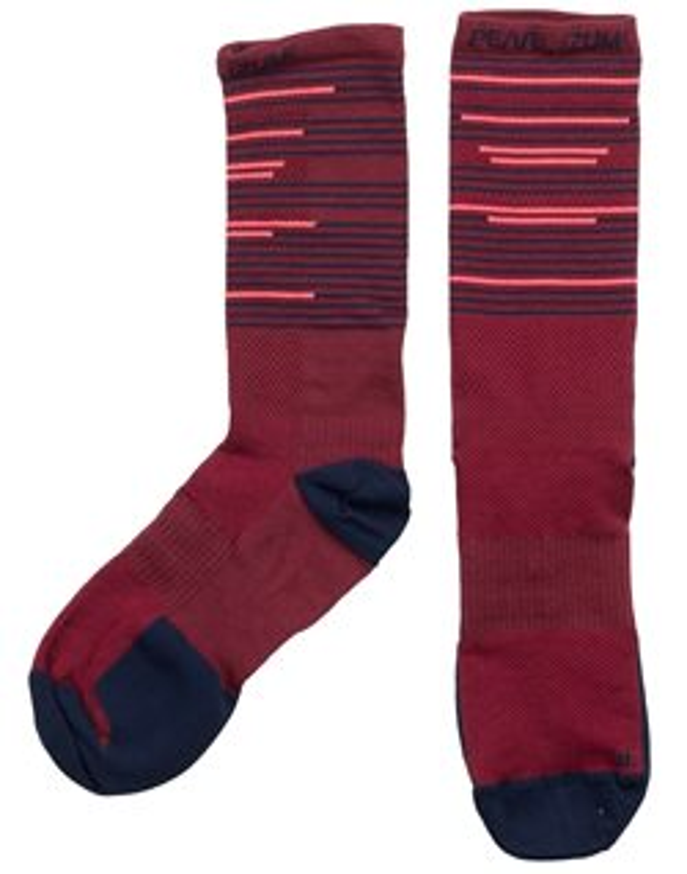 Pearl Izumi Elite Tall Socks Men's Size Medium in Port/Midnight Navy Tidal