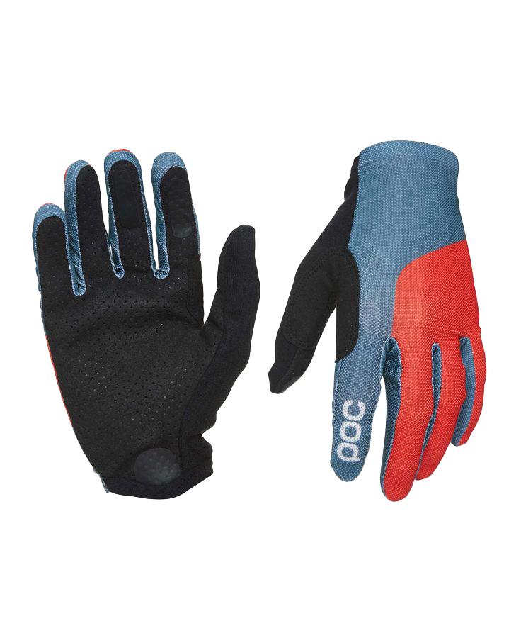 Poc | Essential Mesh MTB Gloves Men's | Size Extra Large in Cubane Blue/Prismane Red