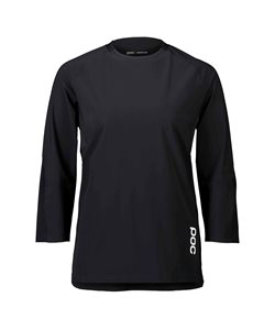Poc | Resistance Women's 3/4 Jersey | Size Small in Uranium Black