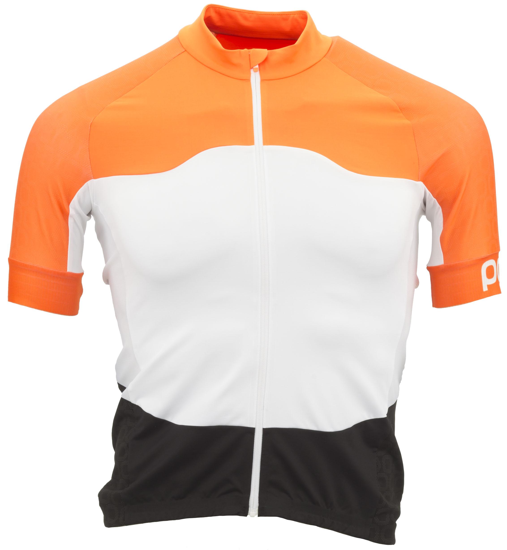 POC Avip SS Ceramic Jersey Men's Size Medium in Zink Orange/Hydrogen White