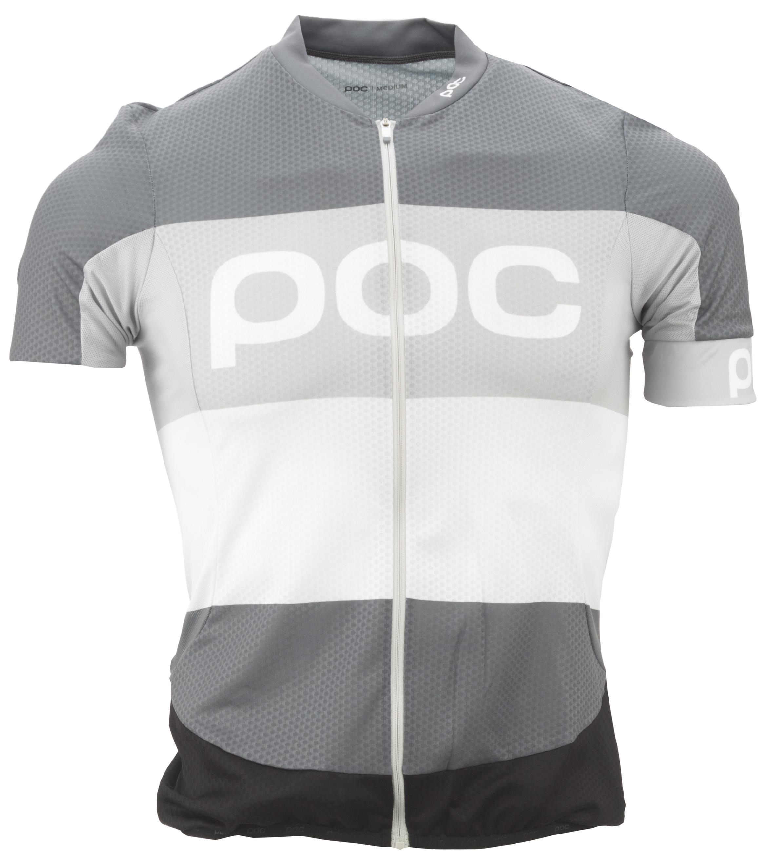 POC Essential Road Logo Jersey Men's Size Medium in Steel Multi Grey
