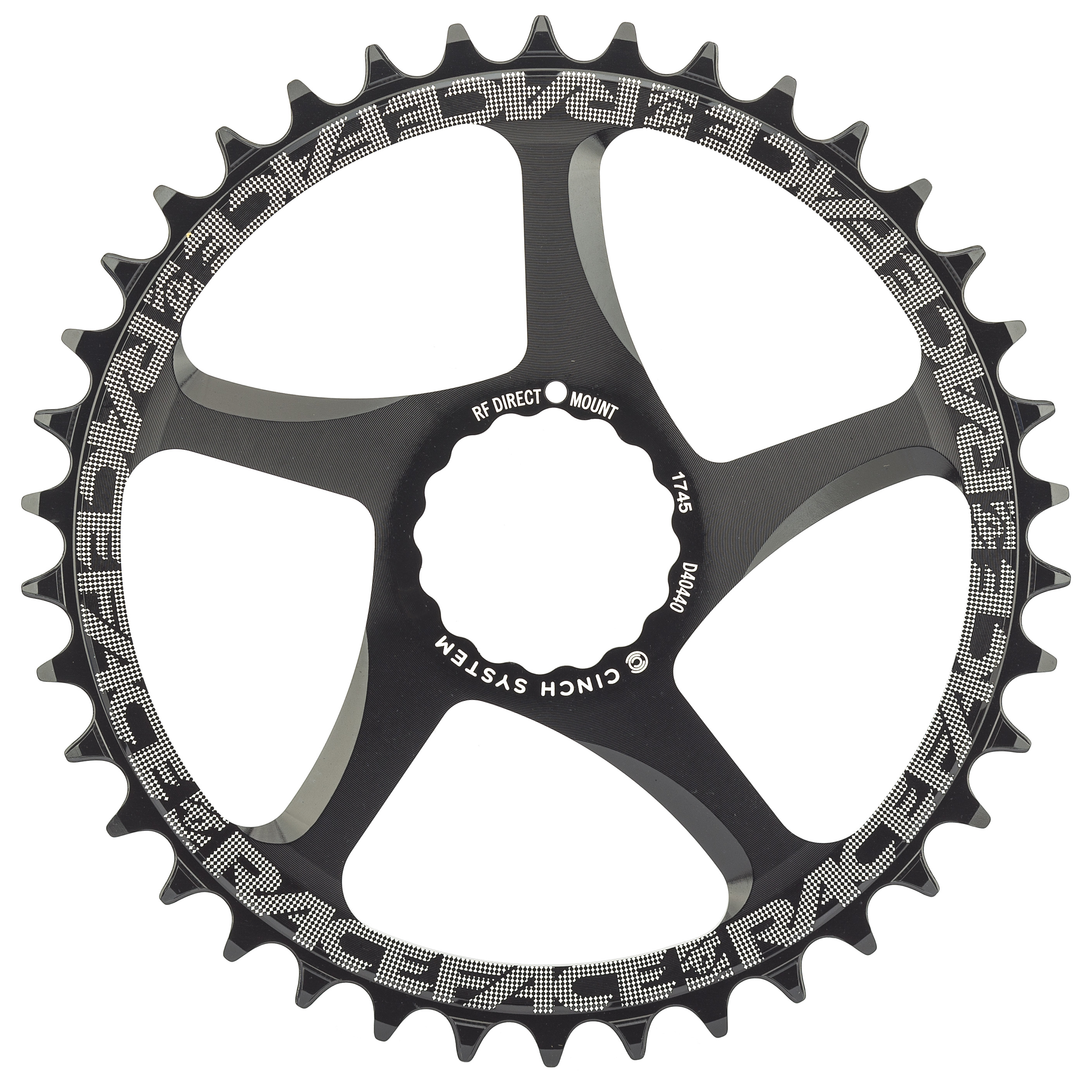 Race Face Single Narrow Wide 1x MTB Direct Mount Cinch Chainring 26t Black