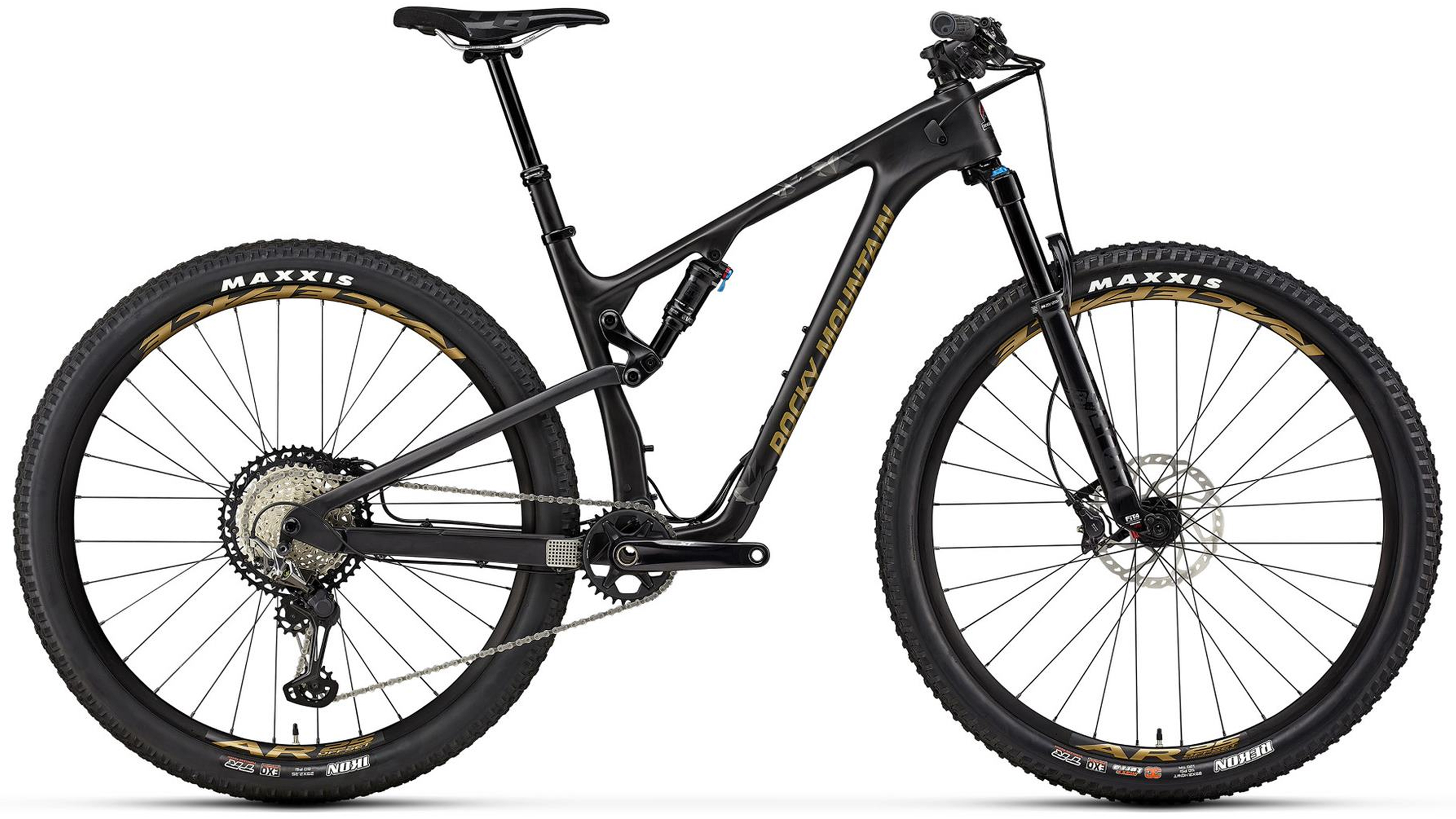 black mens full suspension mountain bicycle