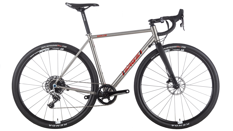 sage bicycle made of titanium frame