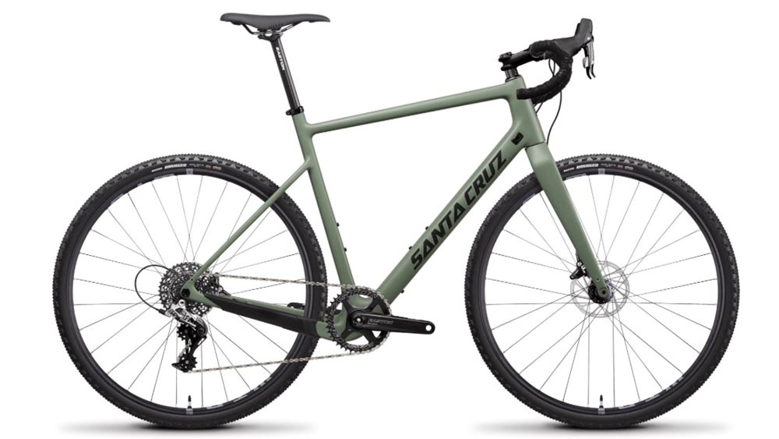 green santa cruz cross bike