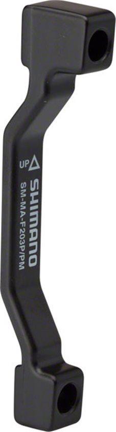74mm Caliper, Adaptors Shimano F203P//P Disc Brake Adaptor for 203mm Rotor